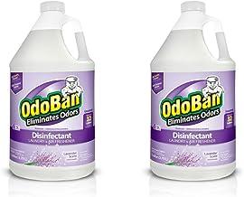 OdoBan Multipurpose Cleaner Concentrate, 2 Gal, Lavender Scent - Odor Eliminator, Disinfectant, Flood Fire Water Damage Re...