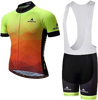 Uriah Men's Cycling Jersey and White Bib Shorts Sets Short Sleeve Reflective