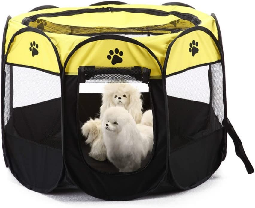 ASOSMOS Pet Cat Dog Puppy Fence Foldable Panels 5 ☆ very popular 8 P Playpen Soldering Tent
