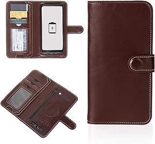 NIVNI Power Bank plånbok, multifunktionell plånbok med inbyggd powerbank bärbar laddare med kabel för affärsresor