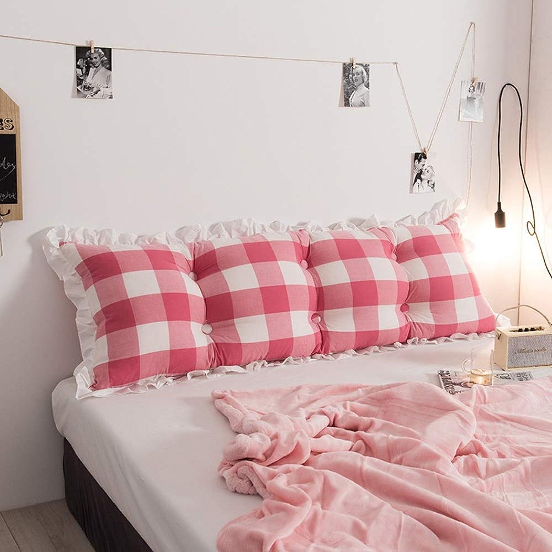 JAG Canapé de Chevet Coussin Lit en Coton Princesse Grand Dossier Oreiller Amovible et Lavable, 6 Couleurs (Couleur  E, Taille  120cm)