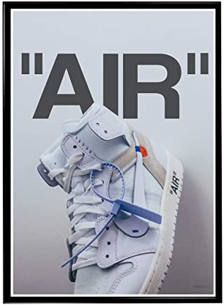 RobsTees Custom White Air Sneaker Poster, Hypebeast Poster, Pop Culture Wall Decor