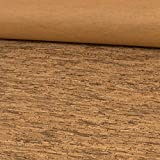 Stoffe Werning Korkstoff rustikal Holzoptik braun - Preis