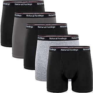Boxer Briefs Mens Underwear Men Pack Soft Cotton Open Fly Underwear