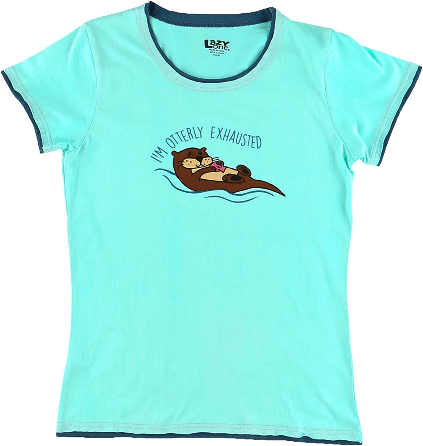 Lazy One Womens Unstable in the Morning Fitted Pajama Tee