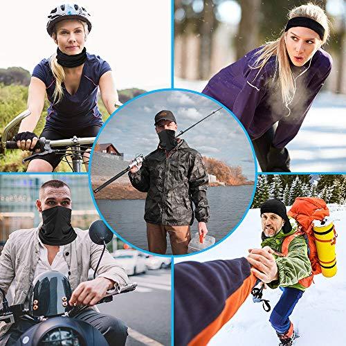 Weekend/&Lifecan 3 Pezzi Fascia Bandanas Ciclismo Ideale Come per Pesca Scaldacollo Estivo Maschera Moto Unisex di Sole Maschera Estiva di Protezione UV Sciarpa Collo da Spiaggia