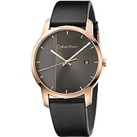 Calvin Klein Men's Analogue Quartz Watch with Leather Strap (K2G2G6C3)