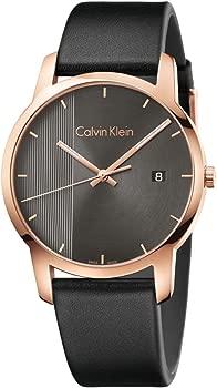 Calvin Klein Men's Analogue Quartz Watch with Leather Strap