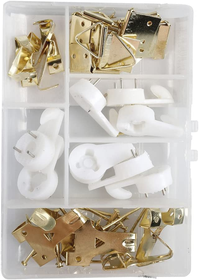Cogex 85271Picture Hook Assortment Gold Finally popular brand White Special sale item Set 28Piece of