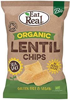 Eat Real Organic Lentil Chips, Sea Salt, 100 gm (Pack of 1)