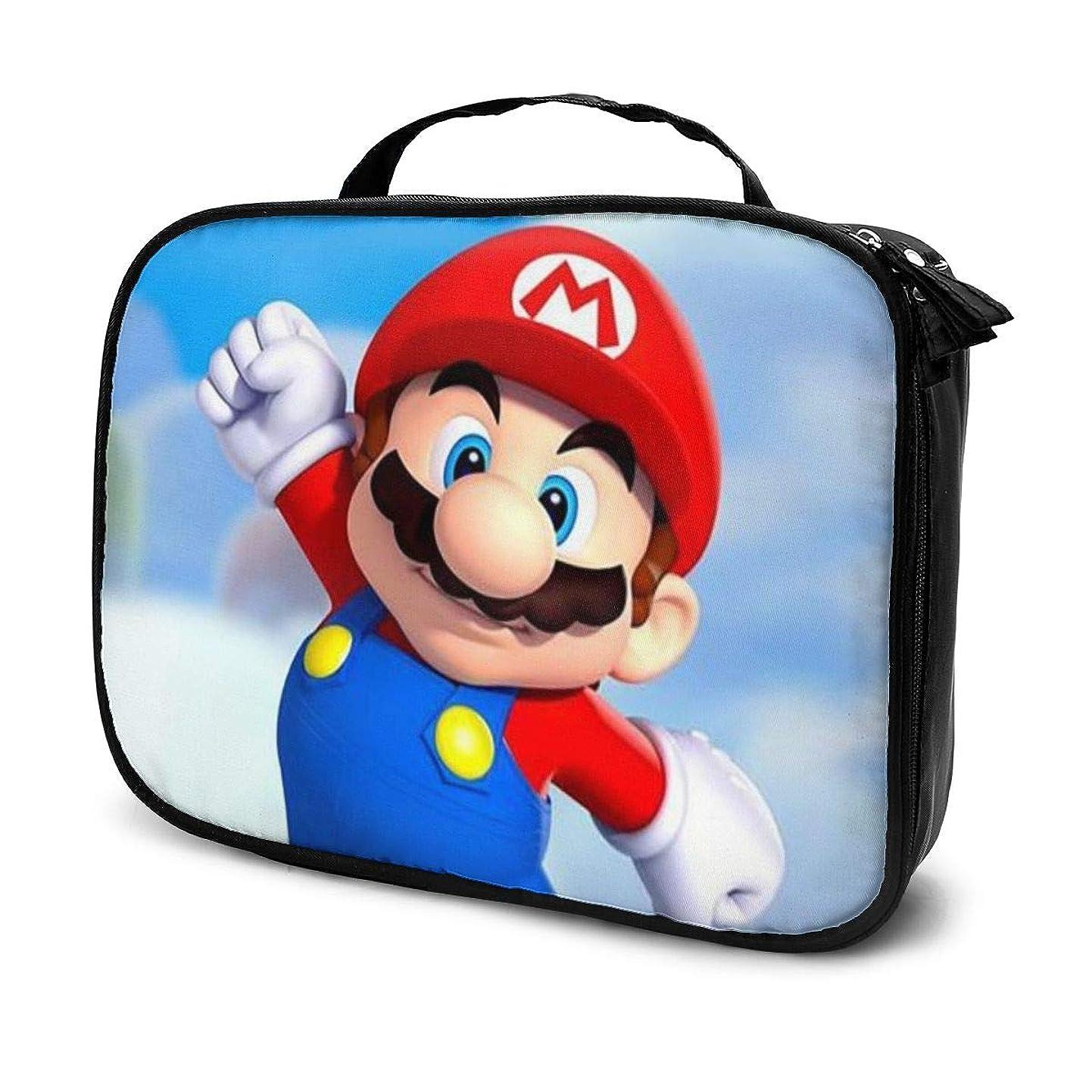 四面体評論家クリスマスDaituスーパーマリオ 化粧品袋の女性旅行バッグ収納大容量防水アクセサリー旅行