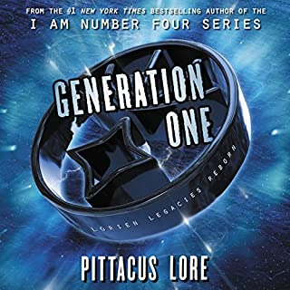 Generation One                   By:                                                                                                                                 Pittacus Lore                               Narrated by:                                                                                                                                 P. J. Ochlan                      Length: 11 hrs and 2 mins     758 ratings     Overall 4.6