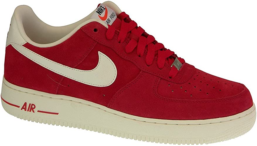 Nike - Baskets - Homme Air Force 1 Suede Rouge : Amazon.fr ...