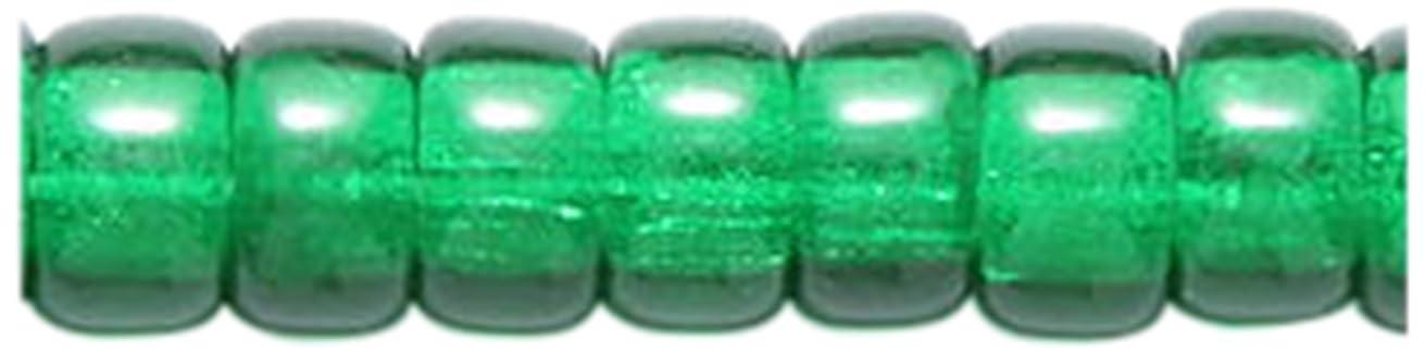 Preciosa Ornela Traditional Czech Glass Crow Roller 200-Piece Beads, 6mm, Dark Christmas Green