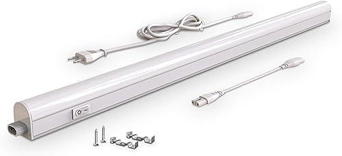 B.K.Licht réglette LED pour cuisine et atelier, platine LED 15W, longueur 873mm, 1200 Lm, lumière blanche neutre 4000K