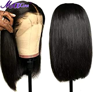 Maxine Glueless Bob Wig Brazilian Straight Short Lace Front Human Hair Wigs For Black Women Pre Plucked With Baby Hair Remy Hair 12 inch