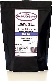 Café Especialidad del Café Impressivo de Uganda, tostado hábilmente en África, Top 5% de café en el mundo, 100% Arábica, grano entero de origen único, tostado medio, 350 g (12.34 oz)