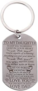 to My Son Daughter I Want You to Believe Love Dad Mom Dog Tag - Llavero Militar con Cadena de Bolas, Regalo para el Mejor Hijo o Fiesta de cumpleaños (Acero Inoxidable)