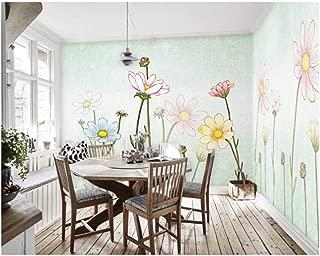 Jiling Decoration Painting Cloth Wallpaper Fresh Flower Language Whole House Painting Background @320X240Cm