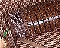 折りたたみ竹冷却マットレス,通気性のある炭化麻雀竹マット滑らかな夏の睡眠パッドござ敷きパッド,寝室ダブルベッド学生トッパー用,C-150*200cm(59x79inch)