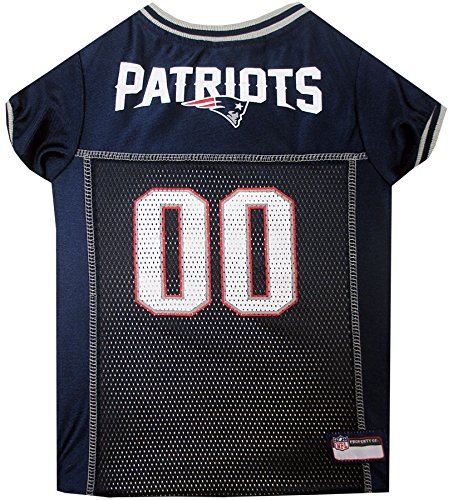 NFL NEW ENGLAND PATRIOTS DOG Jersey, Small Shirt Apparel Jersey Cute Outfit for DOGS, CATS, Puppies, Kittens & Small Animals