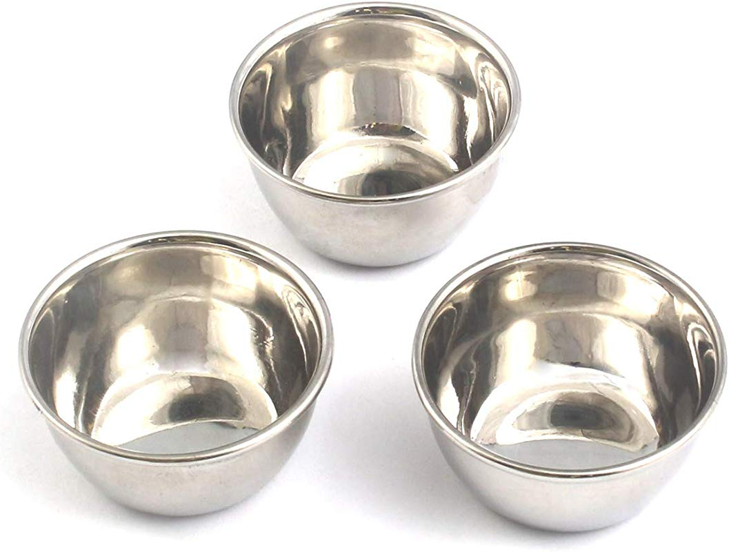 OdontoMed2011 Set Of 3 Stainless Steel Mixing Bowl 4 5 Wide 2 Deep ODM