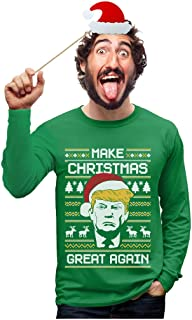 TeeStars - Make Christmas Great Again Trump Ugly Christmas Long Sleeve T-Shirt