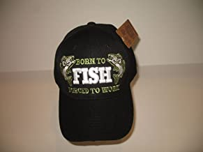 Born to Fish Forced to Work Bass Fishing Redneck Baseball Hat Cap
