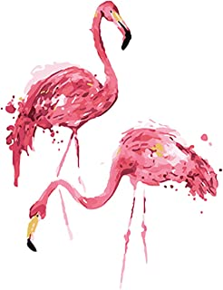 """Various Flamingo Series Paint by Numbers for Adults Kids Beginners Easy Acrylic on Canvas 16""""x20""""with Paints and Brushes,F..."""