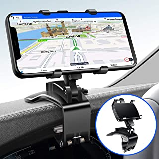 Ankndo Car Phone Holder Mount Dashboard Phone Car Holder 360 Degree Rotation Cell Phone Holder for Car Clip Mount 3-in-1 M...