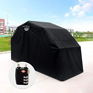 Quictent Heavy Duty Motorcycle Shelter Tourer Cover Storage Garage Tent with TSA Code Lock & Carry Bag (Large Size)