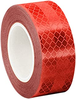 3M 3432 Red Micro Prismatic Sheeting Reflective Tape, 2
