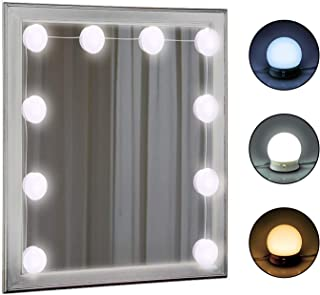 Hollywood Style LED Vanity Mirror Lights Kit with Multiple Color Tones, Dimmable Light Bulbs - Lighting Fixture Strip for Makeup Dressing Table - Vanity Makeup Mirror Lights (Mirror Not Included)