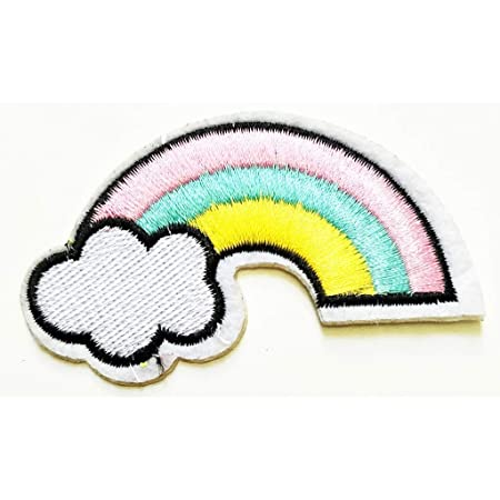 Rainbow Cloud Smile Cartoon Patches T-shirt Patch Sew Iron on Embroidered Patch