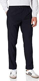 Amazon Brand - find. Men's Regular Fit Pleated Formal Trouser