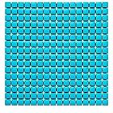Alfombrilla de ducha antideslizante para baño o piscina con ventosas fuertes, 21,25 x 21,63,5 cm (azul)