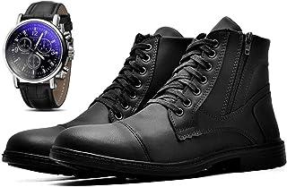 Bota Coturno Com Relógio Masculino JUILLI Adventure R501DB