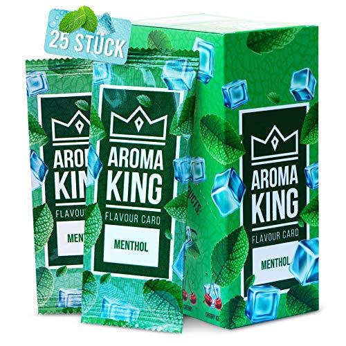 Aroma King - Premium 25er Set   Menthol Karte für unvergesslichen Flavour Geschmack   Aromakarte   inkl. Schachtel zur Aufbewahrung der Menthol Blättchen Karten