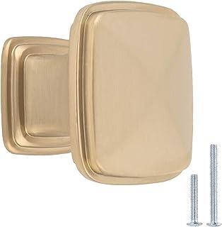 AmazonBasics - Pomo de armario 317 cm de diámetro color dorado champán AB400-GC-25