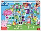 Peppa Pig- Set 8 En 1, Multicolor, única (Educa Borrás 16791)