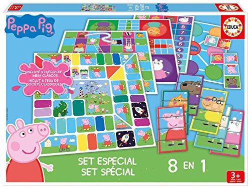 Educa Pig Peppa Pug Juegos, Set 8 En 1, multicolor (16791)