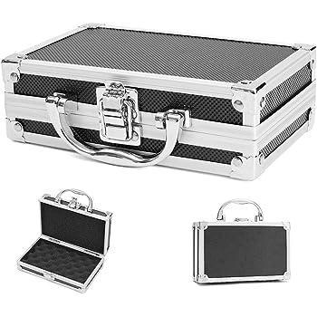 Luyao Estuche portátil de aluminio para vuelo Caja de herramientas Caja de almacenamiento a prueba de golpes de espuma de aluminio Estuche de seguridad de viaje para micrófono, cámara, etc.: Amazon.es: Bricolaje