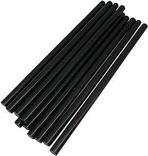 TrendBox Pack of Black 7mmx200mm - Hot Melt Glue Sticks Strips Melting Adhesive for Handmade Craft DIY Home Office Project...