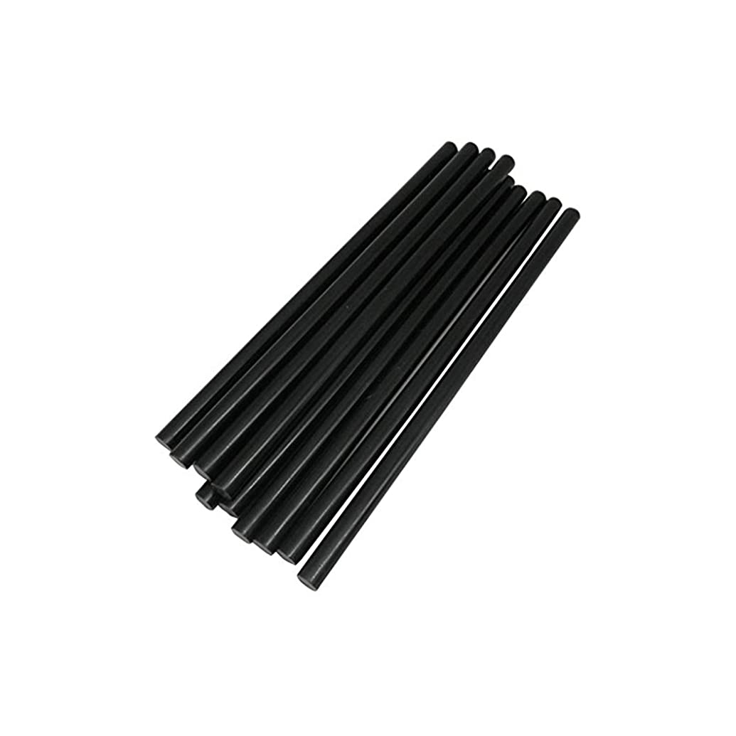 TRENDBOX Pack of 10 Black 7mmx200mm - Hot Melt Glue Sticks Strips Melting Adhesive for Handmade Craft DIY Home Office Project Craftwork Fix & Repairs