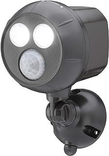 Mr Beams MB390 400-Lumen Weatherproof Wireless Battery Powered LED Ultra Bright Spotlight with Motion Sensor, Brown