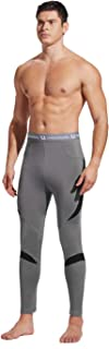 UNIQUEBELLA Men's Thermal Underwear Pants Bottoms Long Johns Fleece Sweat Quick Drying Thermo