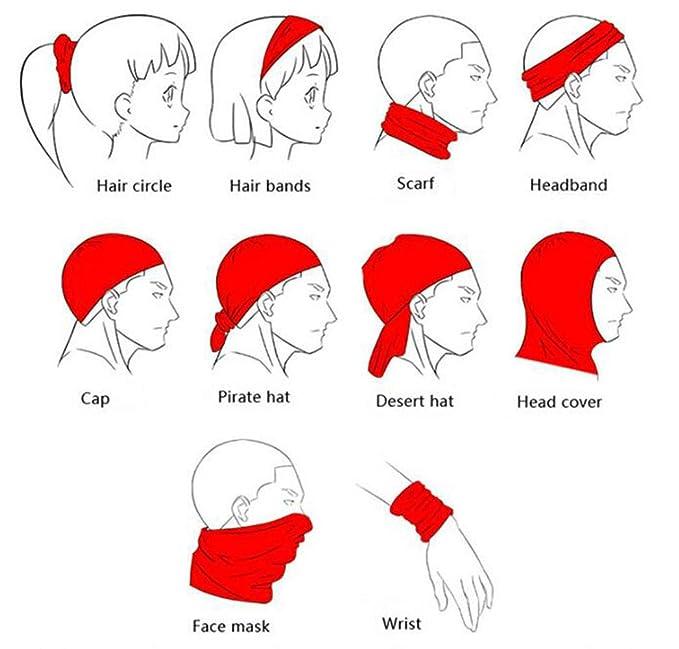 ERCGY Cute Cartoon Elements Headwear Bandanas Seamless Headscarf Outdoor Sport Headdress Running Riding Skiing Hiking Headbands