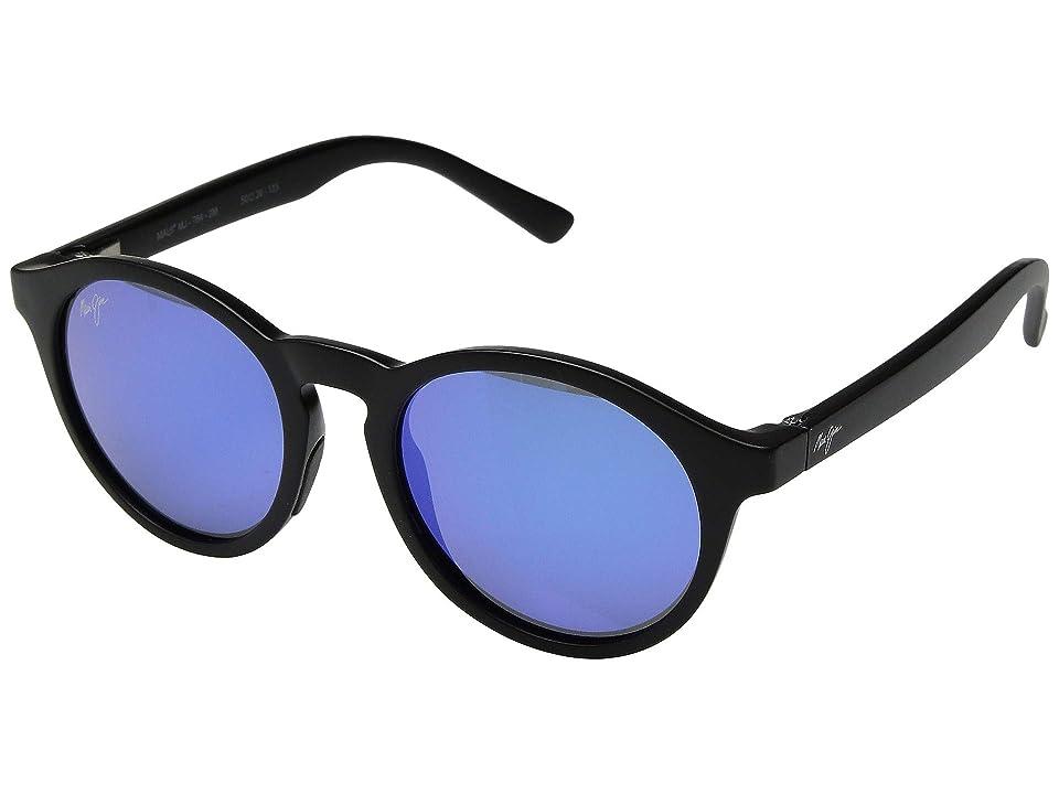 Maui Jim Pineapple (Matte Black/Blue Hawaii) Athletic Performance Sport Sunglasses