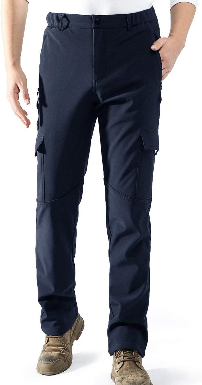 Homme Doubl/é Polaire Imperm/éable Pantalon Softshell Coupe-Vent Outdoor Camping Randonn/ée Trekking Ski Pantalon