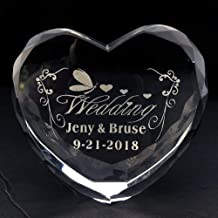 Personalized Custom Engraving Crystal Heart